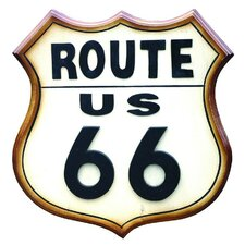 Nostalgia Route 66 Sign Wall Art