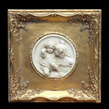 Gilt Square Marble Wall Plaque