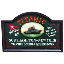 Nostalgia Titanic Sign Wall Art