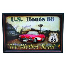 Nostalgia Mother Road Sign Wall Art