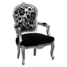 Louis Black Arm Chair I