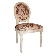 Louis Round Back Floral Chair