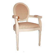 Louis Round Back Chequered Arm Chair