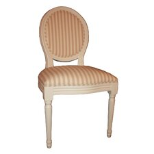 Louis Round Back Neutral Stripe Chair