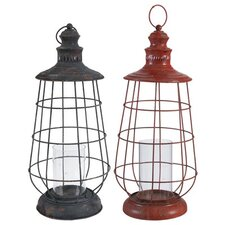 Industrial Style Lantern (Set of 2)