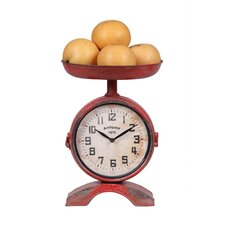 Scale Shaped Clock With Fruit Bowl