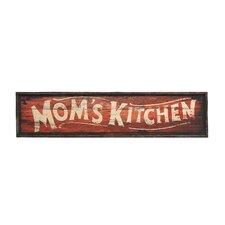 """Moms Kitchen"" Wooden Wall Art"