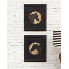 2 Piece Horse Head Wall Art Set