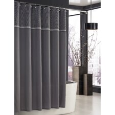 Parc East Polyester Grid Shower Curtain