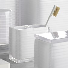 Mar-A-Lago Stripe Toothbrush Holder in White