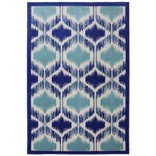 Panoramic Hummingbird Geometric Rug