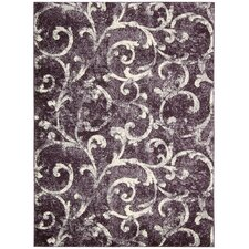 <strong>Kathy Ireland Home Gallery</strong> Santa Barbara Dark Violet Rug