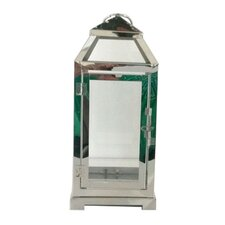 "LuminArt 12"" Stainless Steel Handcrafted Lantern"