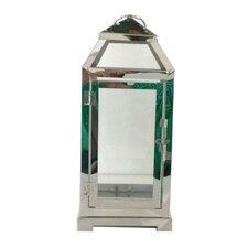 "LuminArt 12"" Stainless Steel Handcrafted Lantern"