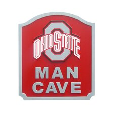NCAA Man Cave Graphic Art Shield Plaque