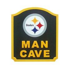 NFL Man Cave Shield Graphic Art Plaque