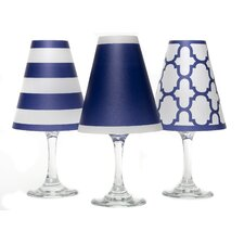 "4.5"" Nantucket Paper Empire Lamp Shade (Set of 6)"