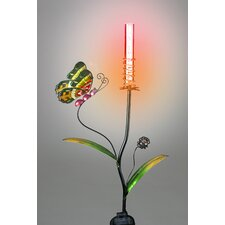 Butterfly Garden Stake with Color Changing Solar Powered LED