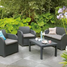 Oklahoma 4 Piece Lounge Seating Group with Cushions