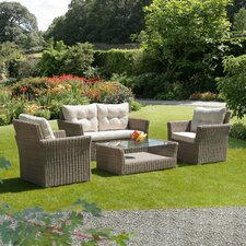 Causeway Bay Semi 4 Piece Seating Group with Cushion