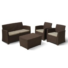 Corona 4 Piece Lounge Seating Group