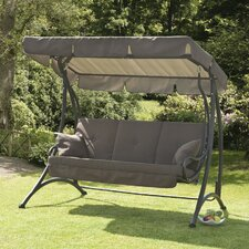 Ferndown Porch Swing with Cushions, Pelmet, and Stand