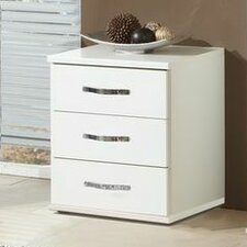 Duo 3 Drawer Bedside Table