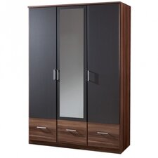 Smart 3 Door 3 Drawer Mirrored Wardrobe