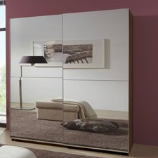 Queen 180cm Full Mirrored Sliding Wardrobe
