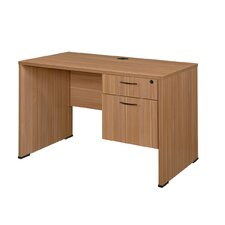 Sandia Credenza Desk with Box/File Pedestal