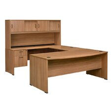 Sandia Executive Bow Front U-Desk with Hutch