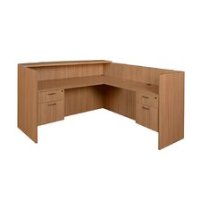 Sandia Reception Desk with double Box/File Pedestal
