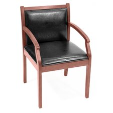 <strong>Regency</strong> Regent Wood and Leather Guest Side Chair