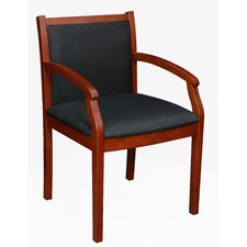 Regent Wood and Fabric Guest Side Chair