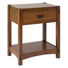 <strong>Conrad Grebel</strong> Classic Mission Single Drawer Nightstand