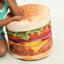 Hamburger Junior Inflatable Bean Bag Chair