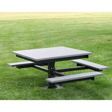 <strong>Frog Furnishings</strong> Recycled Plastic Picnic T-Table