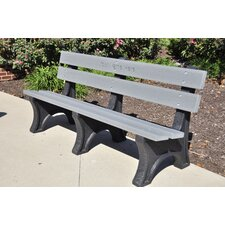<strong>Frog Furnishings</strong> Colonial Recycled Plastic Park Bench