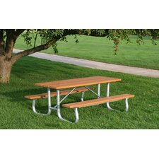 <strong>Frog Furnishings</strong> Recycled Plastic Galvanized Picnic Table