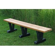 Basic Recycled Plastic Park Bench