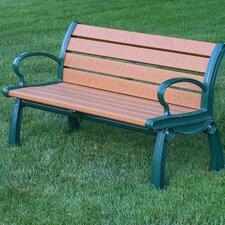 <strong>Frog Furnishings</strong> Heritage Recycled Plastic Park Bench