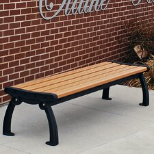 <strong>Frog Furnishings</strong> Heritage Backless Recycled Plastic Park Bench