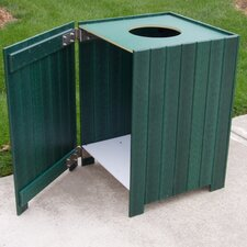 20 Gallon Recycled Plastic Standard Square Receptacle