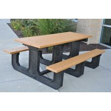 <strong>Frog Furnishings</strong> Park Place Recycled Plastic Picnic Table
