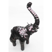 Elephant Crazy Weave Décor Statue