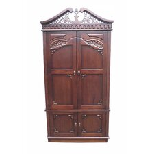 Carved Top Armoire