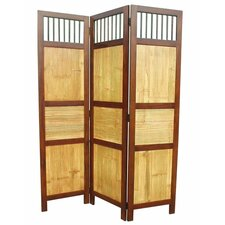 "<strong>D-Art Collection</strong> 70"" x 52"" Bahama 3 Panel Room Divider"