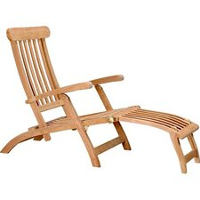 <strong>D-Art Collection</strong> Teak Steamer Lounge Chair