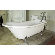 "Picadilly 59"" x 28.75"" Bathtub with Faucet"
