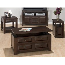 <strong>Jofran</strong> Double Header Mobile Coffee Table Set
